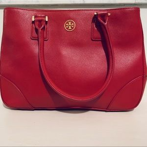 Authentic Tory Burch Small Robinson Tote